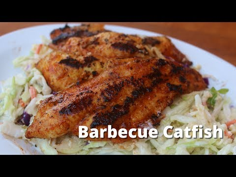 Barbecue Catfish | Grilled Catfish with BBQ Glaze on Big Green Egg