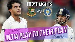 India play to their plan against Bangladesh at Chittagong 1st Test 2007 Highlights | R Powar Debut