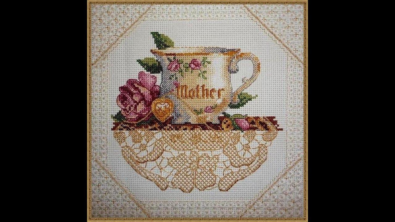 Схема вышивка мамина чашка