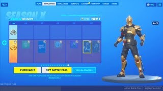 Fortnite Season 10 Battle Pass All Rewards