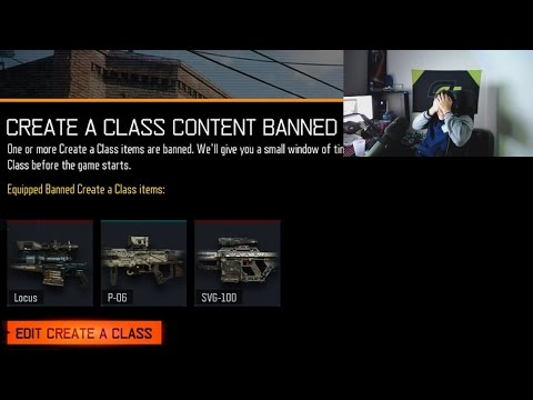 THEY BANNED THE SNIPER RIFLES...