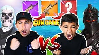 Fortnite Gun Game 1v1 Against 10 Year Old Little Brother! INSANE RAGE!