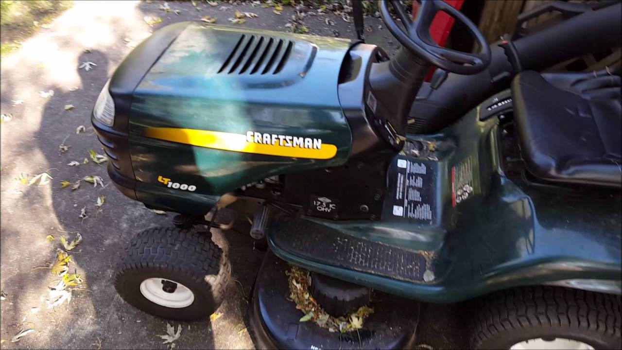 Lawn tractor head gasket repair update youtube - Craftsman Lt1000 Lawn Tractor Update Runnin Good