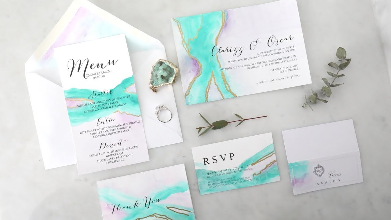 DIY EASY WEDDING INVITATIONS - YouTube