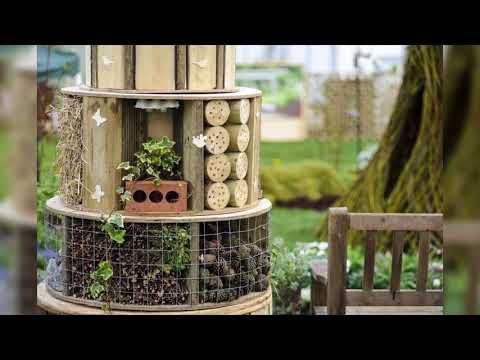 Домики для насекомых (полезные насекомые в саду и их привлечение)