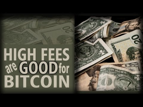 High Fees Are Good For Bitcoin