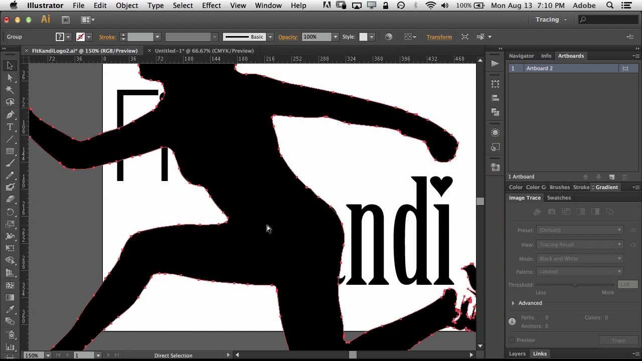 how to use image trace in adobe illustrator cs6 to turn a photo into a logo youtube