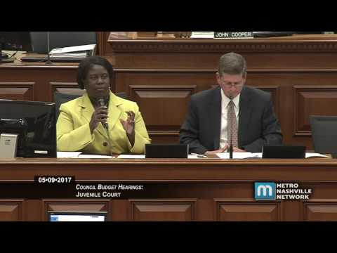 Council Budget Hearings - Juvenile Court May 9, 2017