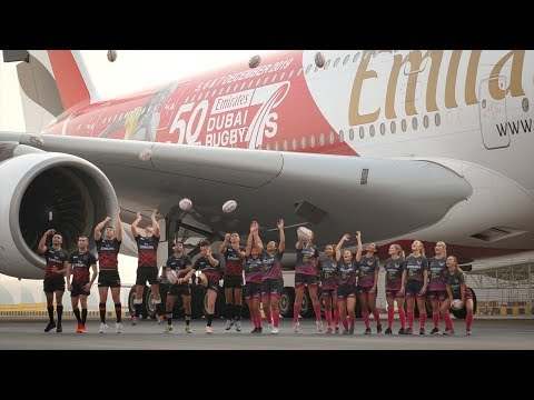 Emirates reveals 50th Anniversary Dubai Rugby Sevens Airbus A380 | Emirates Airline