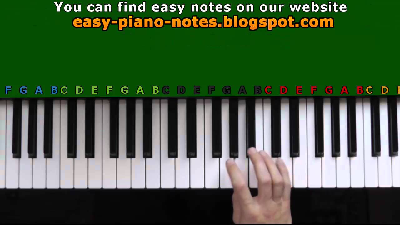 We Wish You A Merry Christmas Easy Piano Tutorial Youtube