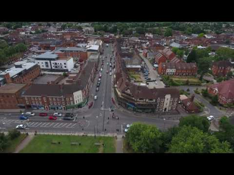 Hitchin Town From The Sky