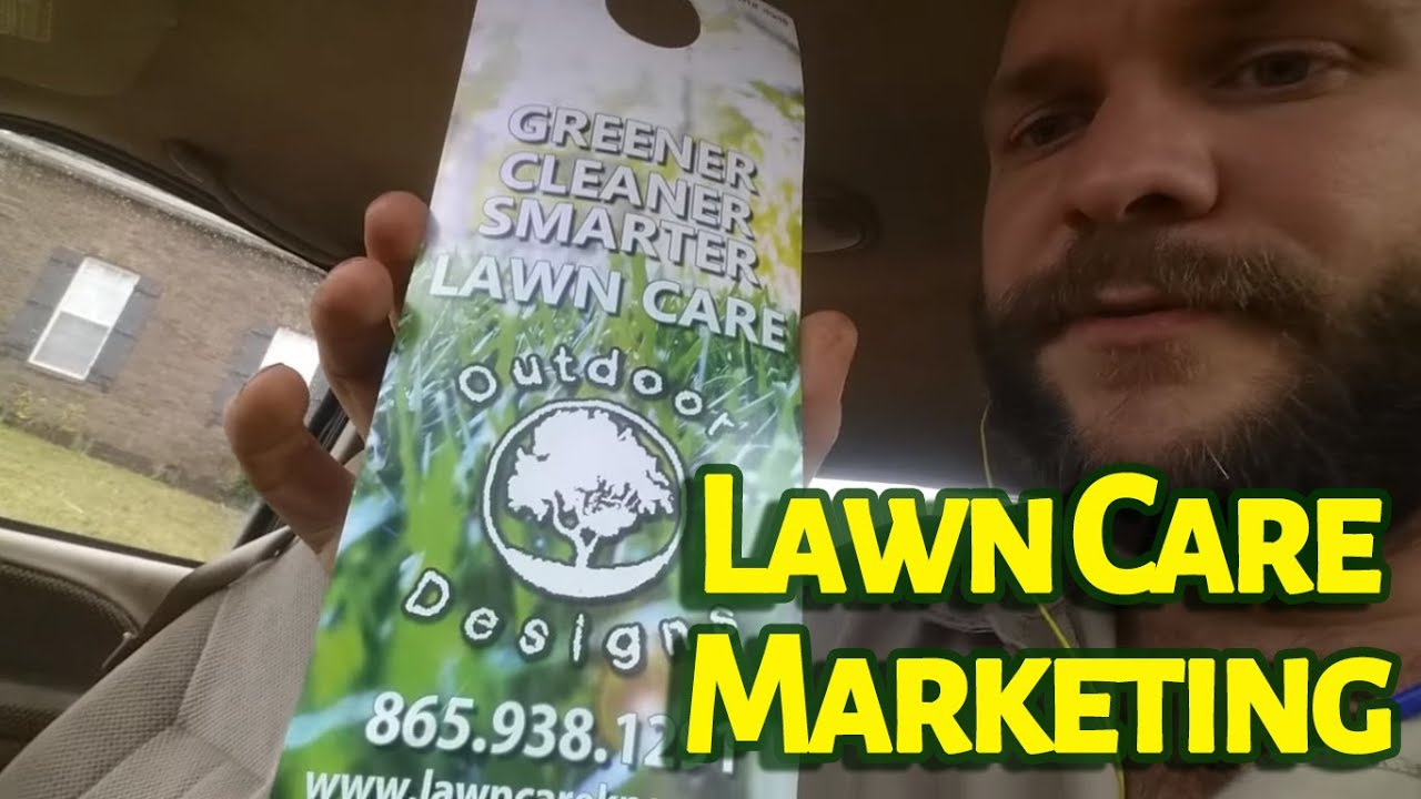 Lawn Care Marketing - Putting Out Door Hangers On A Rain Day - YouTube