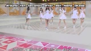 岡田奈々ちゃんと10秒くらい目が合って、ますます、なぁちゃん推しにな...