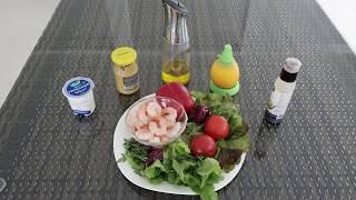 ПП-рецепты. Салат с креветками. Academy Vitality.