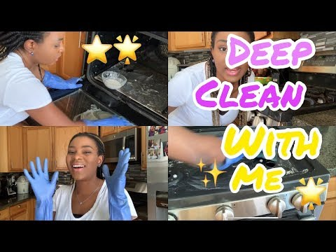 HOW TO DEEP CLEAN YOUR OVEN / STOVE TOP