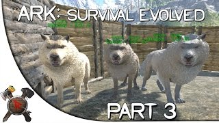 "Ark: Survival Evolved Gameplay - Part 3: ""DIREWOLF PACK IN ACTION!"" (Season 3)"
