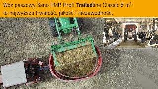 Wóz paszowy Sano TMR Profi Compact 8m³ to najwyższa trwałość, jakość i niezawodność.