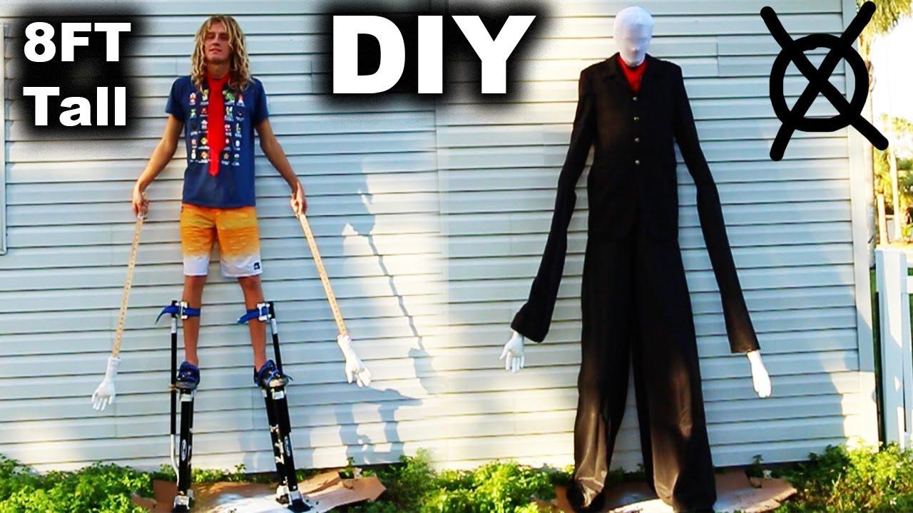 SLENDER MAN IS BACK!! (DIY 8 Foot Tall Slenderman Costume With Stilts!) | JOOGSQUAD PPJT & SLENDER MAN IS BACK!! (DIY 8 Foot Tall Slenderman Costume With ...