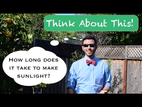 How long does it take to make sunlight? Think About This!