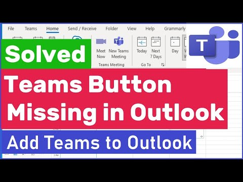How To Add Microsoft Teams To Outlook | Teams Meeting Button Missing in Outlook | #addteamstooutlook