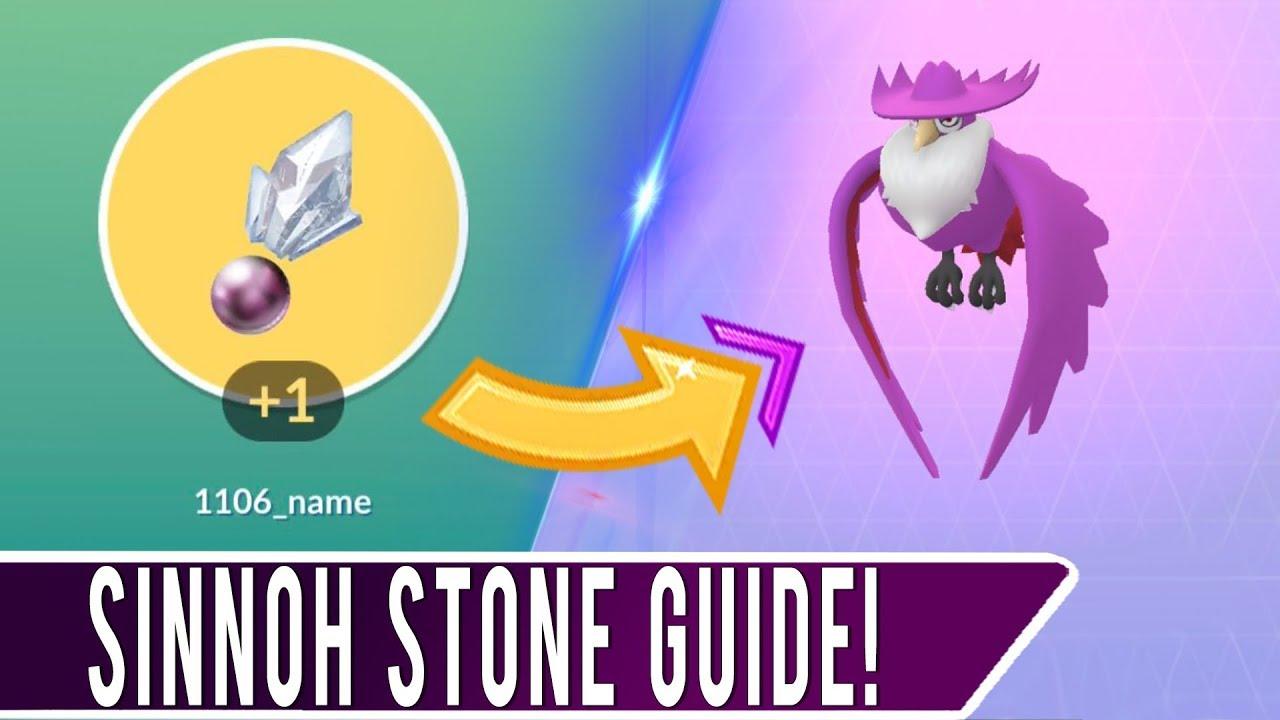 sinnoh stone pokemon go