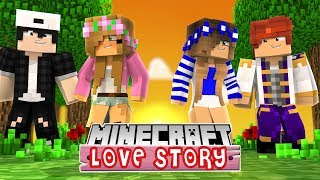 RAVEN AND LITTLE KELLY GO ON DOUBLE DATE WITH LITTLE CARLY AND LITTLE LEO | Minecraft Love Story