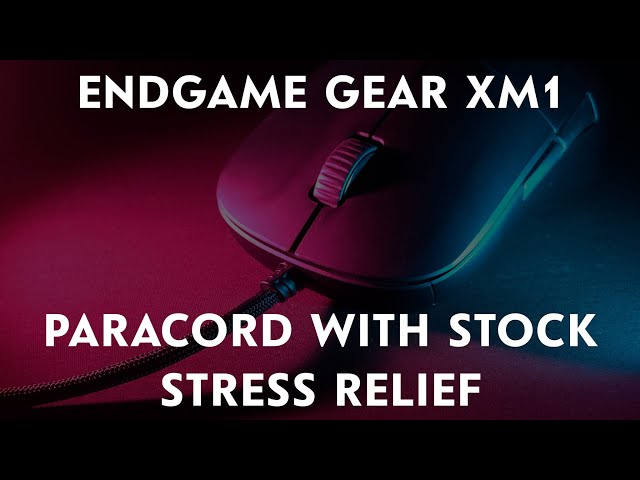 Reusing Stock Stress Relief on Paracord for Endgame Gear XM1
