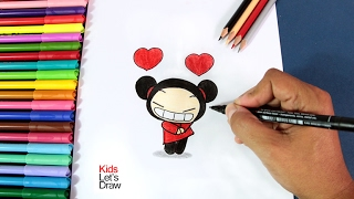 Dibujos de San Valentin: Pucca enamorada | How to draw Pucca in Love