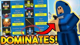 SHARK SKIN DOMINATES SERVERS EN ARSENAL! (ALL SUMMER SKINS!) (ROBLOX)