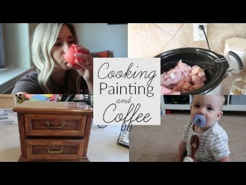 Furniture Painting, Crockpot Dinner and Giveaway WINNER   Vlog #4
