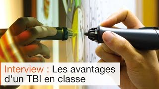 Tableau interactif en classe : le TBI ebeam d'Anthony