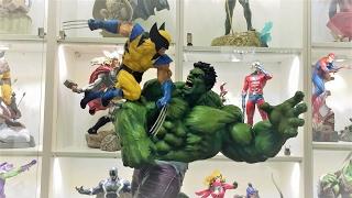 Hulk vs. Wolverine Marquette Statue Sideshow Premium Format Unboxing