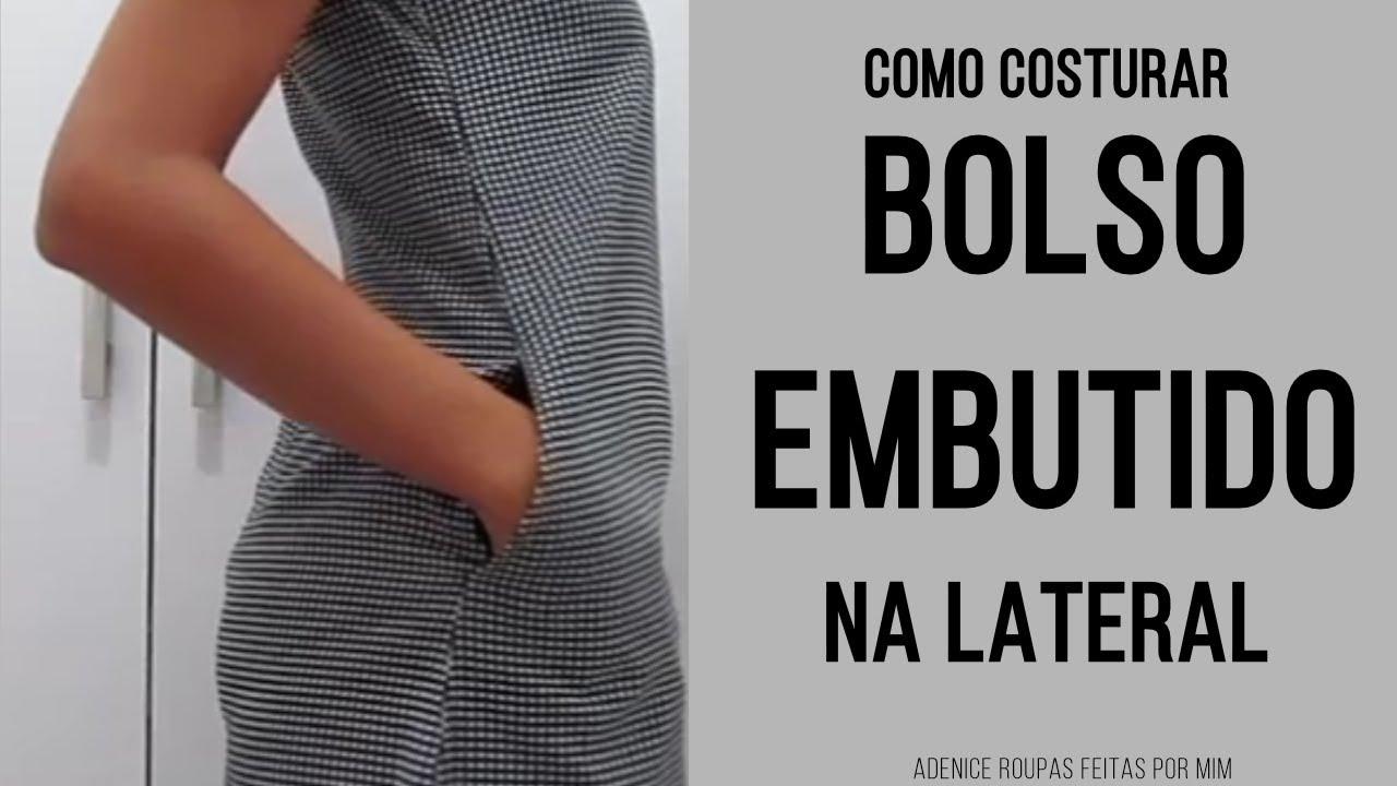 51773949b7 COMO COLOCAR BOLSO EMBUTIDO NA LATERAL EM VESTIDO PRONTO - Roupas ...