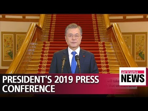President Moon conducts first press conference of 2019