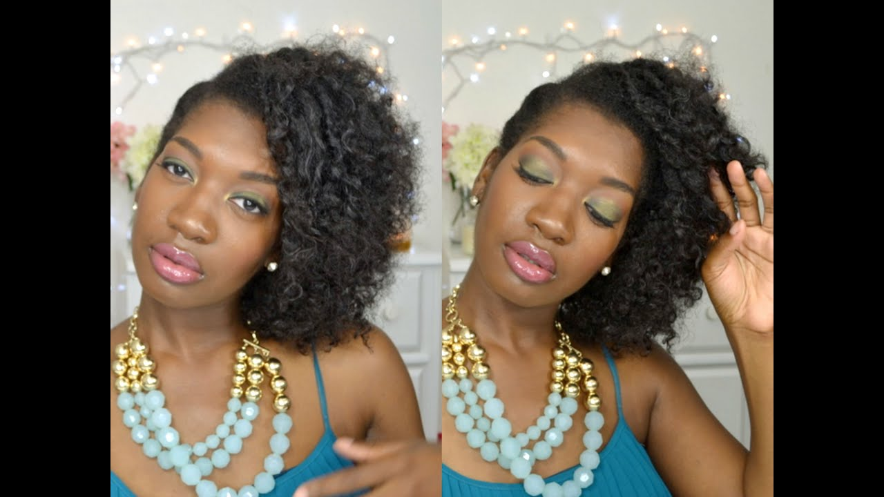 EASY NATURAL HAIR UPDO SIDE SWEPT FLAT TWIST OUT