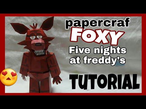 PAPERCRAFT LIVE - Editing Foxy Child FNAF 4 by Molegz Edits