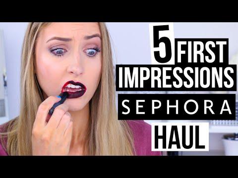 TESTING SEPHORA HAUL MAKEUP?! || 5 First Impressions