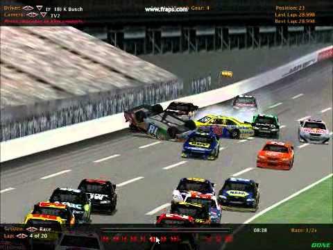 Nr2003 hard crash at lowes motor speedway youtube for Lowe s motor speedway