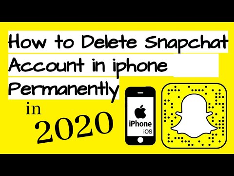 How to delete snapchat account 2019 from app
