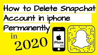 How to Delete Snapchat Account in iphone 2018 Permanently