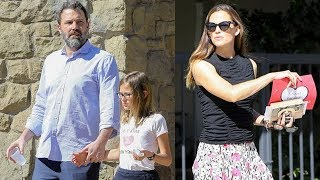 Ben Affleck And Jennifer Garner At Church With Their Children
