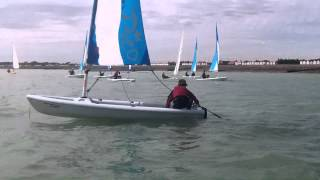 Worthing Sailing Club - Bug Club Week 2012 - Capsize recovery