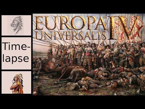 Let's Play EU4 -The Cossacks - AI Custom Nations - Religious Wars - Timelapse