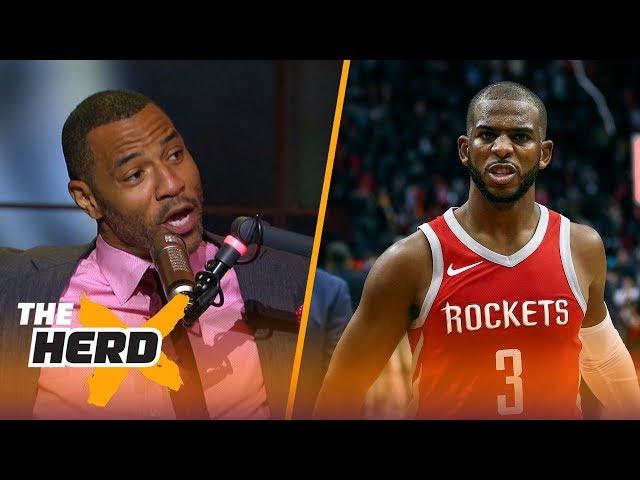 Kenyon Martin on why NBA players dont like Chris Paul, Picks Warriors over Rockets | NBA | THE HERD