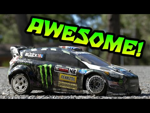 HPI WR8 FLUX KEN BLOCK FORD FIESTA RX43 RTR 1/8 4WD RALLY CAR - First Run!