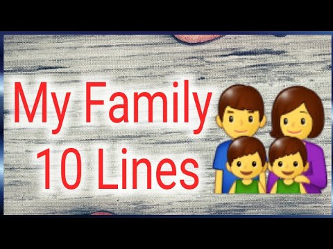 My Family 10 Lines For Kids || My Family Short Paragraph For Kids