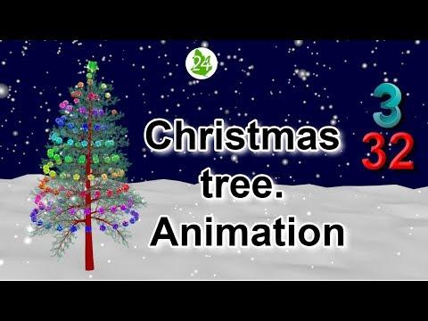 Christmas tree. 🎄 Animation 3ds max. 聖誕樹。動畫. autodesk 3ds. Lesson 32. 🎅