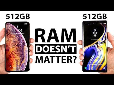 iPhone Xs Max 512GB vs Note 9 512GB Speed Test