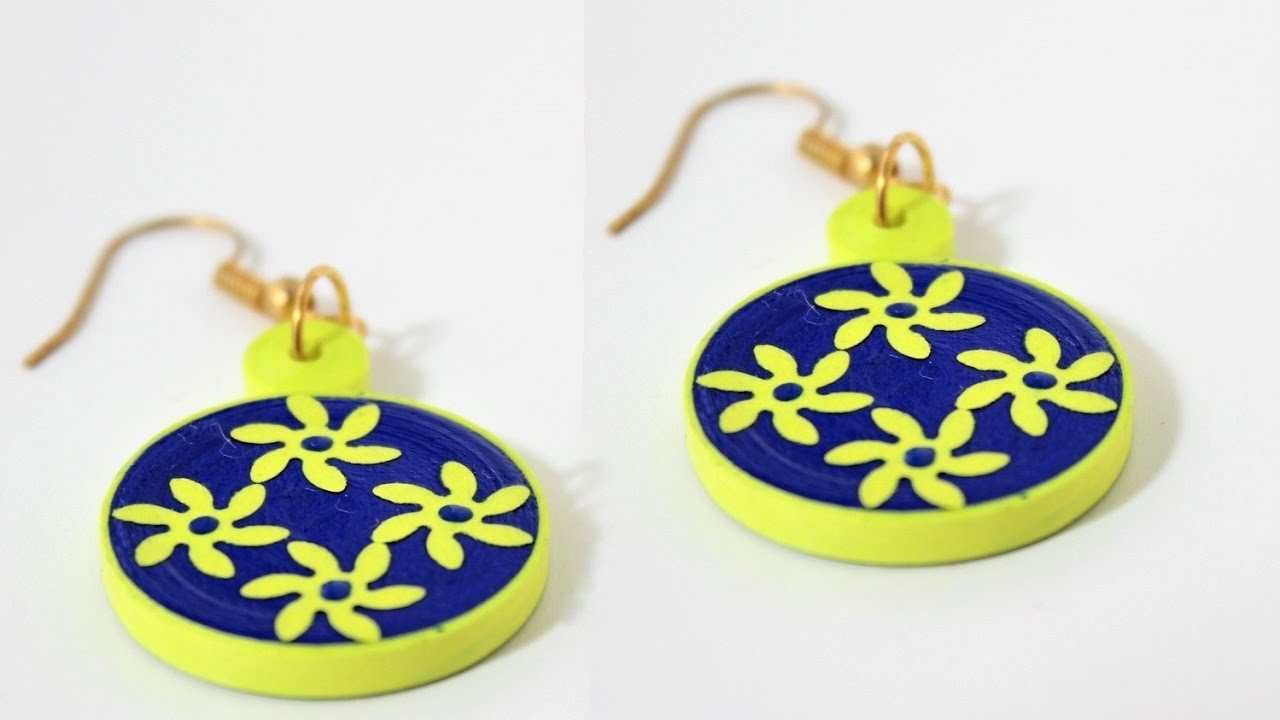 Simple and easy Quilling earrings making/DIY Quilled earrings ...