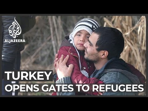 Europeans tighten borders as Turkey 'opens the gates' to refugees